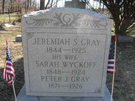 GRAY, JEREMIAH S. - Somerset County, New Jersey | JEREMIAH S. GRAY - New Jersey Gravestone Photos