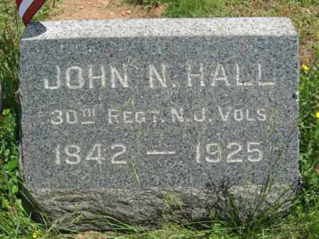 HALL, JOHN N. - Somerset County, New Jersey | JOHN N. HALL - New Jersey Gravestone Photos