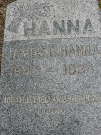 HANNA, JAMES G. - Somerset County, New Jersey | JAMES G. HANNA - New Jersey Gravestone Photos