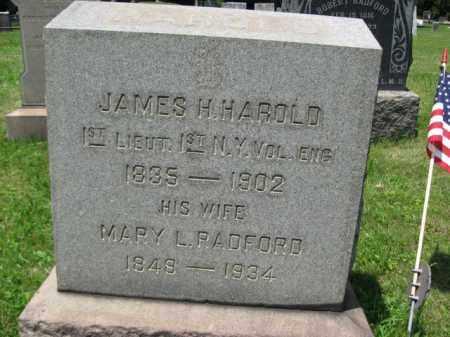 HAROLD, 1ST LIEUT.JAMES H. - Somerset County, New Jersey | 1ST LIEUT.JAMES H. HAROLD - New Jersey Gravestone Photos