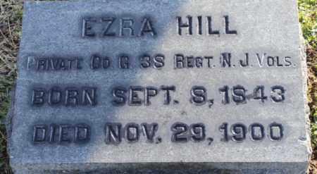HILL, EZRA - Somerset County, New Jersey | EZRA HILL - New Jersey Gravestone Photos