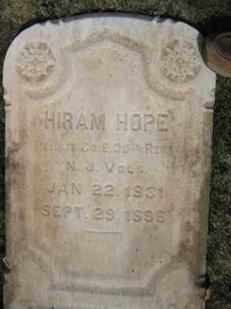 HOPE, HIRAM - Somerset County, New Jersey   HIRAM HOPE - New Jersey Gravestone Photos