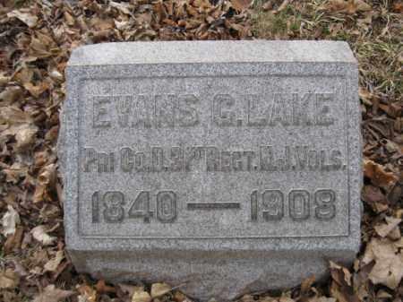 LAKE, EVANS G. - Somerset County, New Jersey   EVANS G. LAKE - New Jersey Gravestone Photos