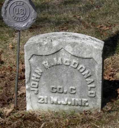 MCDONALD, JOHN R. - Somerset County, New Jersey | JOHN R. MCDONALD - New Jersey Gravestone Photos