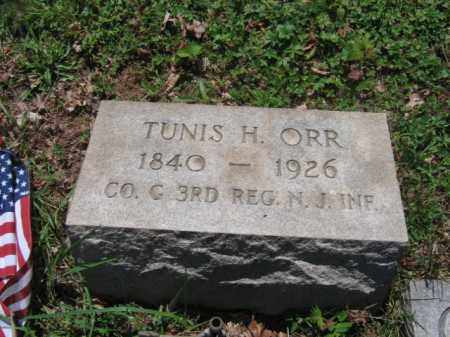 ORR, TUNIS H. - Somerset County, New Jersey   TUNIS H. ORR - New Jersey Gravestone Photos
