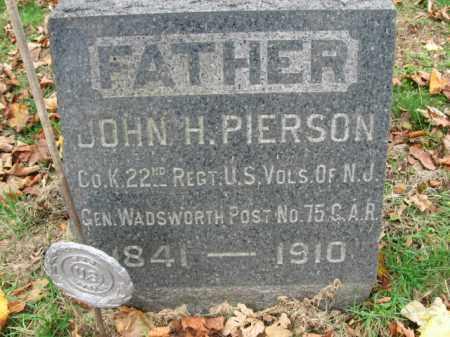 PIERSON, JOHN H. - Somerset County, New Jersey | JOHN H. PIERSON - New Jersey Gravestone Photos
