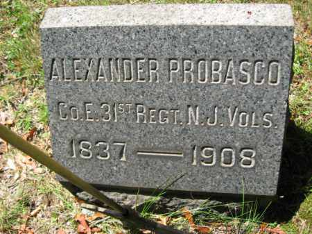PROBASCO, ALEXANDER - Somerset County, New Jersey | ALEXANDER PROBASCO - New Jersey Gravestone Photos