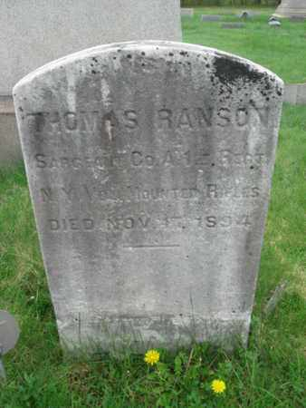 RANSON (RANSOM), THOMAS - Somerset County, New Jersey | THOMAS RANSON (RANSOM) - New Jersey Gravestone Photos