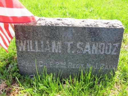 SANDOZ (SANDERS), WILLIAM T. - Somerset County, New Jersey | WILLIAM T. SANDOZ (SANDERS) - New Jersey Gravestone Photos