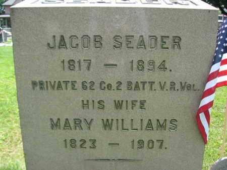 SEADER, JACOB - Somerset County, New Jersey   JACOB SEADER - New Jersey Gravestone Photos