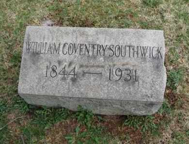 SOUTHWICK, WILLIAM COVENTRY - Somerset County, New Jersey | WILLIAM COVENTRY SOUTHWICK - New Jersey Gravestone Photos