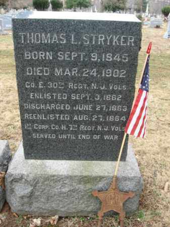 STRYKER, CORP.THOMAS L. - Somerset County, New Jersey | CORP.THOMAS L. STRYKER - New Jersey Gravestone Photos