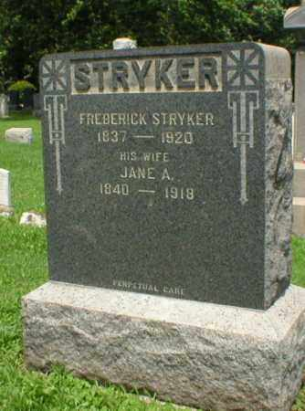 STRYKER, FREDERICK - Somerset County, New Jersey | FREDERICK STRYKER - New Jersey Gravestone Photos