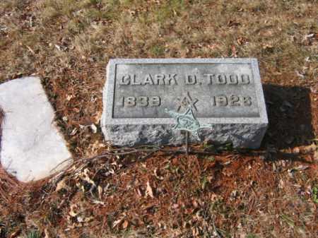 TODD, CLARK D. - Somerset County, New Jersey | CLARK D. TODD - New Jersey Gravestone Photos