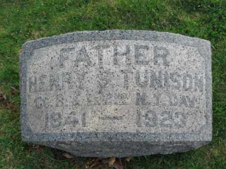 TUNISON, HENRY S. - Somerset County, New Jersey | HENRY S. TUNISON - New Jersey Gravestone Photos