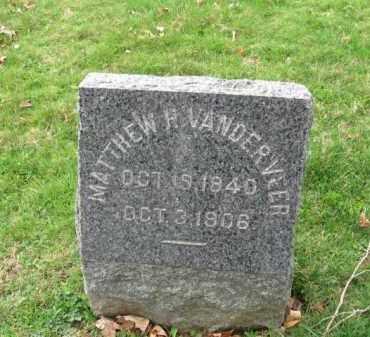 VANDERVEER, MATTHEW H. - Somerset County, New Jersey   MATTHEW H. VANDERVEER - New Jersey Gravestone Photos