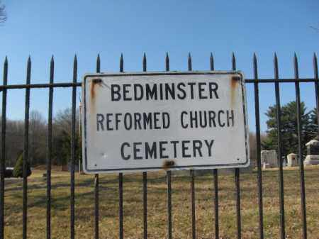 CEMETERY SIGN, BEDMINSTER REFORMED CHURCH - Somerset County, New Jersey | BEDMINSTER REFORMED CHURCH CEMETERY SIGN - New Jersey Gravestone Photos