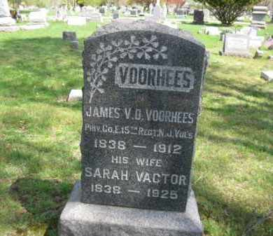 VOORHEES, JAMES V.D. - Somerset County, New Jersey | JAMES V.D. VOORHEES - New Jersey Gravestone Photos