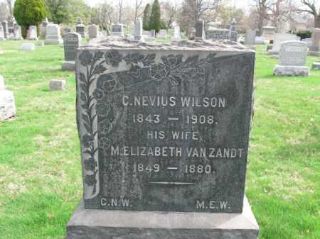 WILSON, CHRISTOPHER NEVIUS - Somerset County, New Jersey | CHRISTOPHER NEVIUS WILSON - New Jersey Gravestone Photos