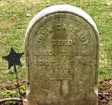 CASSADY, JOHN - Sussex County, New Jersey | JOHN CASSADY - New Jersey Gravestone Photos