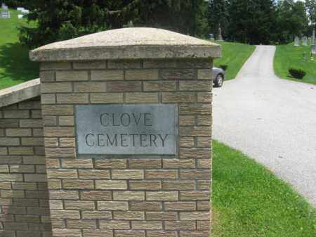 CEMETERY ENTRANCE, CLOVE - Sussex County, New Jersey | CLOVE CEMETERY ENTRANCE - New Jersey Gravestone Photos