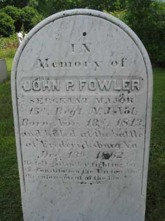 FOWLER, JOHN P. - Sussex County, New Jersey | JOHN P. FOWLER - New Jersey Gravestone Photos