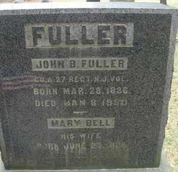 FULLER, JOHN B. - Sussex County, New Jersey | JOHN B. FULLER - New Jersey Gravestone Photos