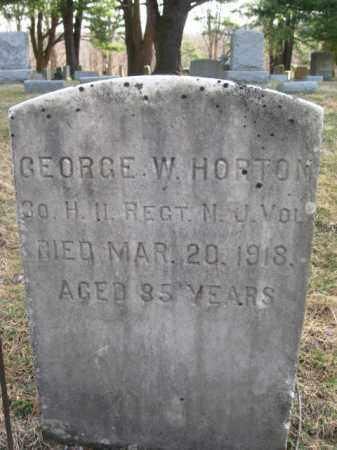 HORTON, GEORGE W. - Sussex County, New Jersey | GEORGE W. HORTON - New Jersey Gravestone Photos