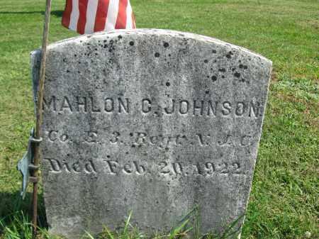 JOHNSON, MAHLON C. - Sussex County, New Jersey   MAHLON C. JOHNSON - New Jersey Gravestone Photos