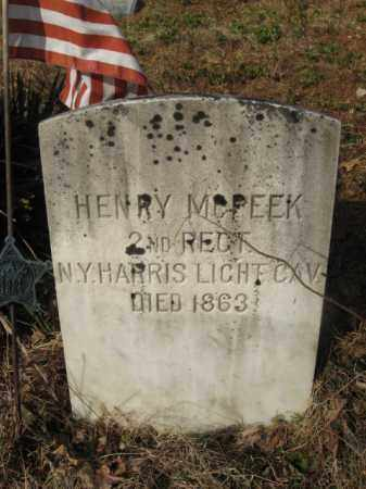 MCPEEK, HENRY - Sussex County, New Jersey | HENRY MCPEEK - New Jersey Gravestone Photos