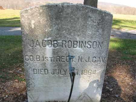 ROBINSON, JACOB - Sussex County, New Jersey | JACOB ROBINSON - New Jersey Gravestone Photos