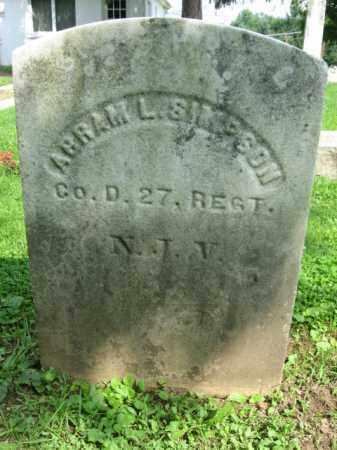 SIMPSON, ABRAM (ABRAHAM) L. - Sussex County, New Jersey | ABRAM (ABRAHAM) L. SIMPSON - New Jersey Gravestone Photos