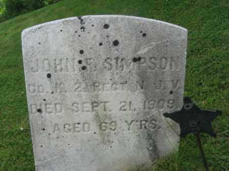 SIMPSON, JOHN F. - Sussex County, New Jersey   JOHN F. SIMPSON - New Jersey Gravestone Photos