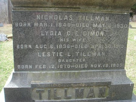TILLMAN, NICHOLAS - Sussex County, New Jersey | NICHOLAS TILLMAN - New Jersey Gravestone Photos