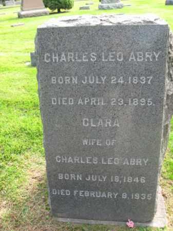 ABRY (ABEY), CHARLES LEO - Union County, New Jersey   CHARLES LEO ABRY (ABEY) - New Jersey Gravestone Photos