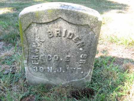 BRIDEN,SR., FRANK - Union County, New Jersey | FRANK BRIDEN,SR. - New Jersey Gravestone Photos