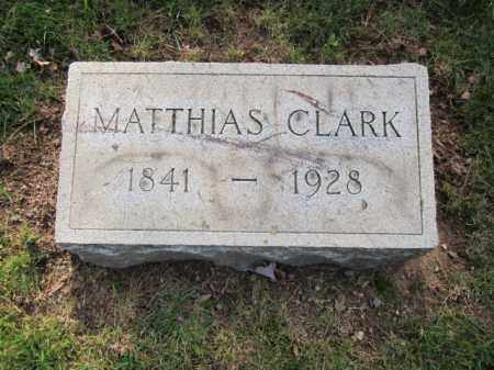 CLARK, MATHIAS - Union County, New Jersey | MATHIAS CLARK - New Jersey Gravestone Photos