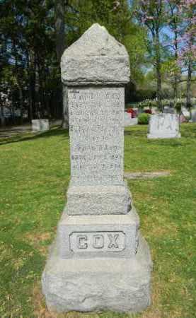 COX, DAVID H. - Union County, New Jersey | DAVID H. COX - New Jersey Gravestone Photos