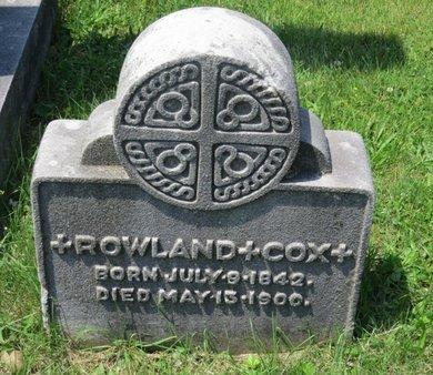 COX, ROWLAND - Union County, New Jersey | ROWLAND COX - New Jersey Gravestone Photos