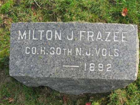 FRAZEE, MILTON J. - Union County, New Jersey   MILTON J. FRAZEE - New Jersey Gravestone Photos