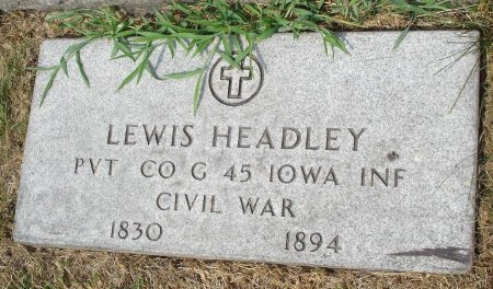 HEADLEY, LEWIS PIERSON - Union County, New Jersey | LEWIS PIERSON HEADLEY - New Jersey Gravestone Photos
