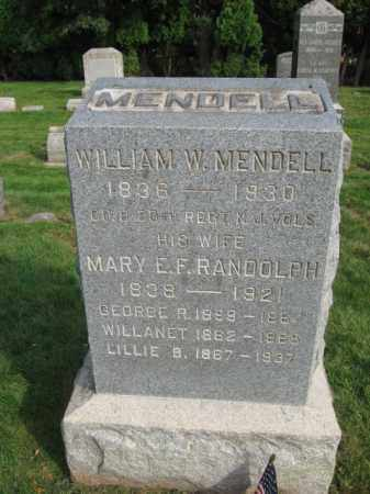 MENDELL, WILLIAM W. - Union County, New Jersey | WILLIAM W. MENDELL - New Jersey Gravestone Photos