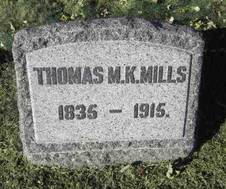 MILLS, THOMAS M.K. - Union County, New Jersey   THOMAS M.K. MILLS - New Jersey Gravestone Photos