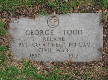 TODD, GEORGE W. - Union County, New Jersey | GEORGE W. TODD - New Jersey Gravestone Photos
