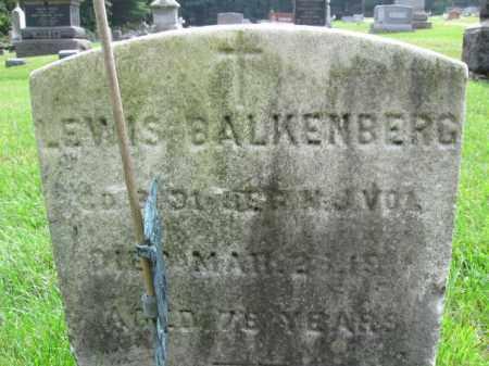 BALKENBERG, LEWIS - Warren County, New Jersey | LEWIS BALKENBERG - New Jersey Gravestone Photos