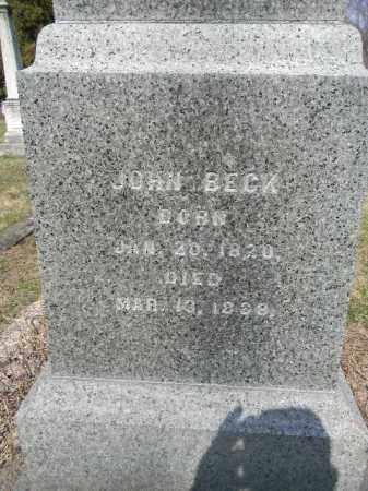 BECK, JOHN - Warren County, New Jersey | JOHN BECK - New Jersey Gravestone Photos
