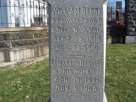 BERRY, WILLIAM - Warren County, New Jersey | WILLIAM BERRY - New Jersey Gravestone Photos