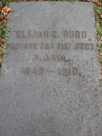 BURD, PVT.ELIJAH C. - Warren County, New Jersey | PVT.ELIJAH C. BURD - New Jersey Gravestone Photos
