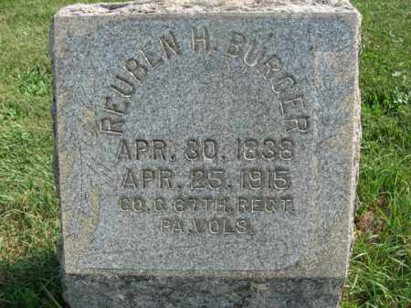 BURGER (BERGER), REUBEN H. - Warren County, New Jersey | REUBEN H. BURGER (BERGER) - New Jersey Gravestone Photos