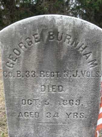 BURNHAM, GEORGE - Warren County, New Jersey | GEORGE BURNHAM - New Jersey Gravestone Photos